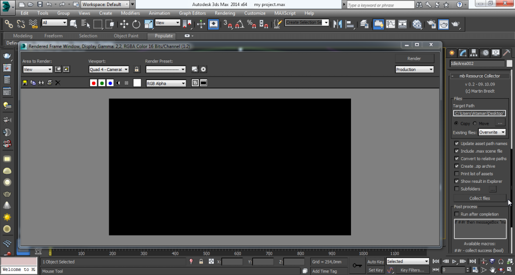 How to Prepare your Project for Rendering - Executing 2